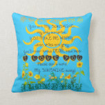 You are my sunshine blue pillow. throw pillows