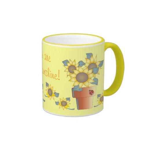 YOU ARE MY SUNSHINE by SHARON SHARPE Ringer Coffee Mug