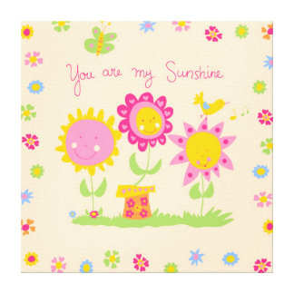 You are my sunshine canvas prints