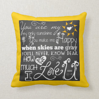You Are My Sunshine Chalkboard Look Pillow