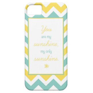 'You Are My Sunshine' Chevron Case iPhone 5 Cases