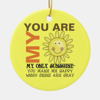 You Are My Sunshine Christmas Ornaments