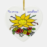 You Are My Sunshine Christmas Tree Ornaments