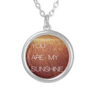 You Are My Sunshine Custom Necklace