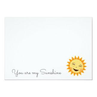 You are my sunshine cute sun flat notecards 5x7 paper invitation card