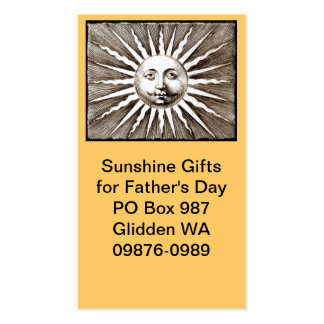 You are My Sunshine Dad Double-Sided Standard Business Cards (Pack Of 100)