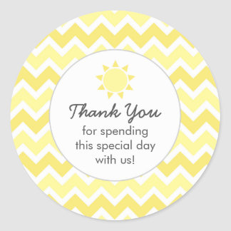 You are my sunshine favor bag thank you classic round sticker