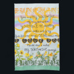 """You Are My Sunshine Hand Towel<br><div class=""""desc"""">You are my sunshine featuring a shining sun,  flowers and a rainbow. The word Sunshine is at the top,  and at the bottom the words I love you. A very cute design that warms the heart and puts a smile on your face.</div>"""