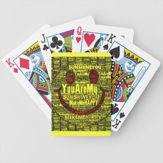 You Are My Sunshine Happy Bicycle Playing Cards