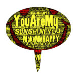 You Are My Sunshine Happy Cake Topper