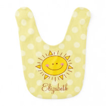 You Are My Sunshine Happy Cute Smiley Sunny Baby Bib