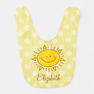 You Are My Sunshine Happy Cute Smiley Sunny Baby Bib