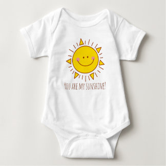 You Are My Sunshine Happy Cute Smiley Sunny Day Baby Bodysuit