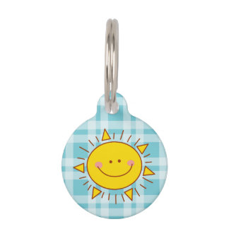 You Are My Sunshine Happy Cute Smiley Sunny Day Pet Name Tag