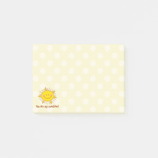 You Are My Sunshine Happy Cute Smiley Sunny Day Post-it Notes