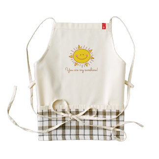 You Are My Sunshine Happy Cute Smiley Sunny Day Zazzle HEART Apron