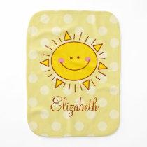 You Are My Sunshine Happy Cute Sunny Unisex Burp Cloth