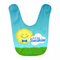 You Are My Sunshine Happy Sun Baby Bib