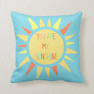 You Are My Sunshine Happy Throw Pillow For Couch