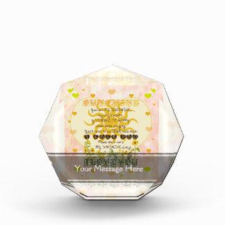 You are my sunshine heart design acrylic award