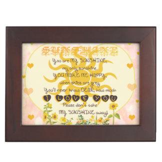 You are my sunshine heart design memory box
