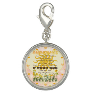 You are my sunshine heart design photo charm