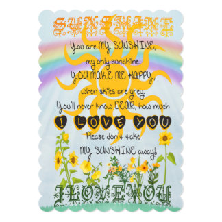 You Are My Sunshine Personalized Invitation