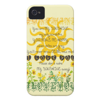 You are my sunshine... iPhone 4 cover