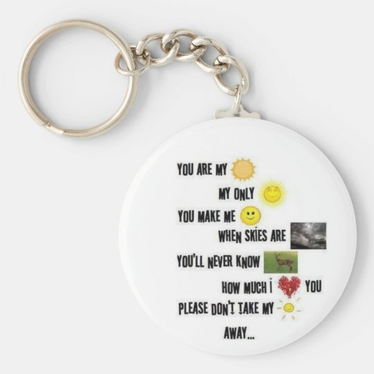 You are my sunshine - Keychain
