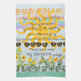 You Are My Sunshine Hand Towels