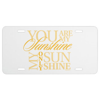 You Are My Sunshine License Plate