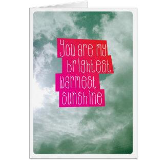 You are my sunshine love friendship card