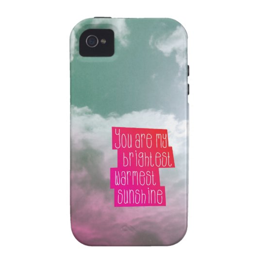 You are my sunshine love mindfull valentine vibe iPhone 4 case