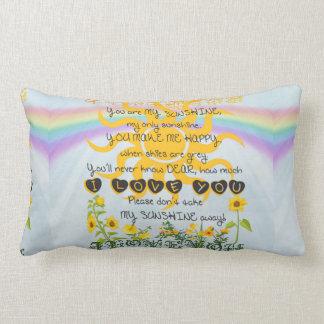 You Are My Sunshine Lumbar Pillow