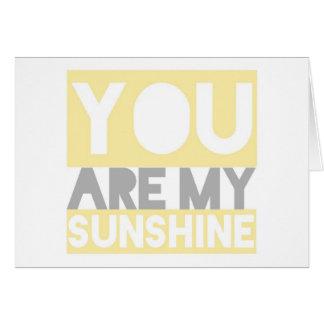 You Are My Sunshine lyrics card