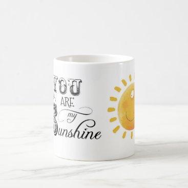 Coffee Themed You Are My Sunshine Mug