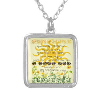 You are my sunshine. necklace