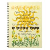 You are my Sunshine Notebook (<em>$13.70</em>)