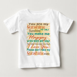 You are my Sunshine Orange/Teal/Cream Baby T-Shirt
