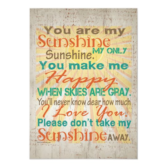 You are my Sunshine Orange/Teal/Cream Card