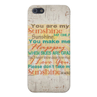 You are my Sunshine Orange/Teal/Cream iPhone SE/5/5s Case
