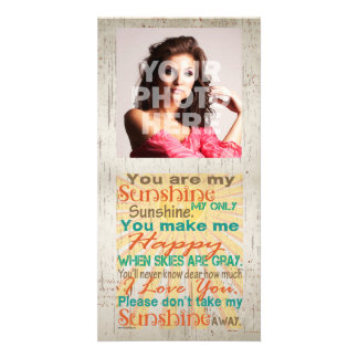 You are my Sunshine Orange/Teal/Cream Personalized Photo Card