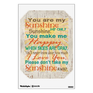 You are my Sunshine Orange/Teal/Cream Wall Decal