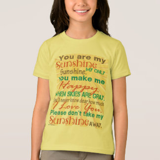 You are my Sunshine Orange/Teal T-Shirt