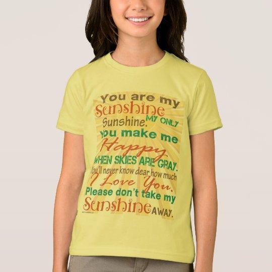 You are my Sunshine Orange/Teal T-Shirt
