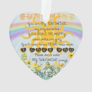 You Are My Sunshine Ornament