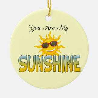 You Are My Sunshine Double-Sided Ceramic Round Christmas Ornament