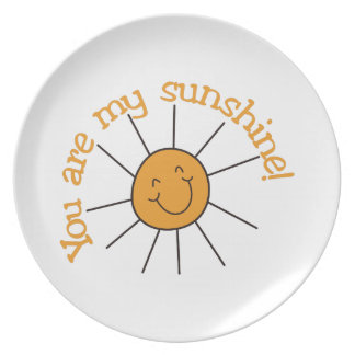 You Are My Sunshine Party Plates