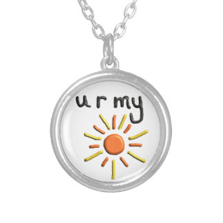 """""""you are my sunshine"""" pendant valentines necklace"""