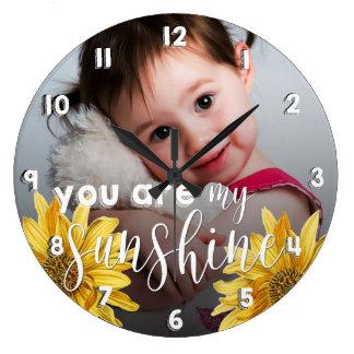 """You Are My Sunshine"" Photo Acrylic Wall Clock"